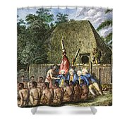 Cook:sandwich Islands 1779 Shower Curtain by Granger