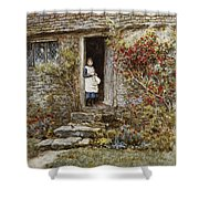 Corcorus Japonica Shower Curtain by Helen Allingham