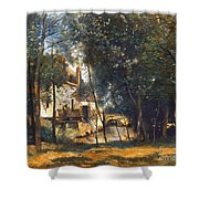 Corot - The Mill Shower Curtain by Granger
