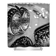 Corvette Bokeh Shower Curtain by Gordon Dean II