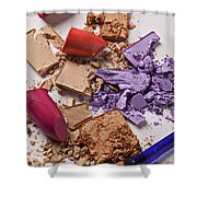 Cosmetics Mess Shower Curtain by Garry Gay