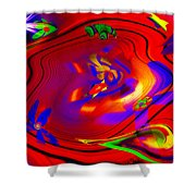 Cosmic Soup Shower Curtain by Bill Cannon