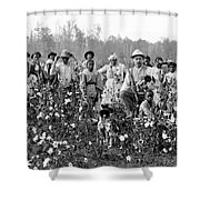 Cotton Planter & Pickers, C1908 Shower Curtain by Granger