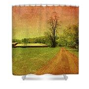 Country Living - Bayonet Farm Shower Curtain by Angie Tirado