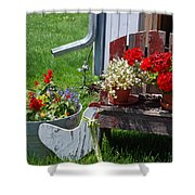 Country Side Shower Curtain by Susanne Van Hulst