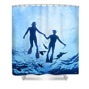 Couple At The Surface Shower Curtain by Ed Robinson - Printscapes