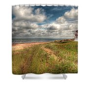 Covehead Lighthouse Shower Curtain by Elisabeth Van Eyken