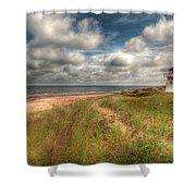 Covehead Lighthouse Shower Curtain by Elisabeth Van Eyken