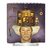 Cowboy Karl Shower Curtain by Leah Saulnier The Painting Maniac