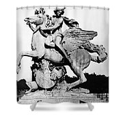 Coysevox: Mercury & Pegasus Shower Curtain by Granger