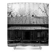 Cracker Cabin Shower Curtain by David Lee Thompson