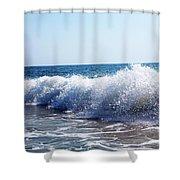 Crash And Sprays Shower Curtain by Violeta Ianeva