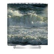 Crashing Wave Shower Curtain by Sandy Keeton