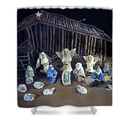 Creche Top View  Shower Curtain by Nancy Griswold