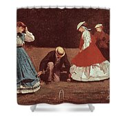 Croquet Scene Shower Curtain by Winslow Homer