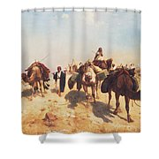 Crossing The Desert Shower Curtain by Jean Leon Gerome