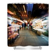 Crowds Moving Through Jordan Shower Curtain by Ray Laskowitz - Printscapes
