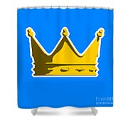 Crown Graphic Design Shower Curtain by Pixel Chimp