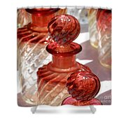 Crystal Bottles Shower Curtain by Lainie Wrightson