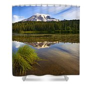 Crystal Clear Shower Curtain by Mike  Dawson