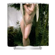Cupidon Shower Curtain by William Adolphe Bouguereau