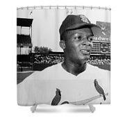 CURT FLOOD (1938- ) Shower Curtain by Granger
