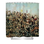 Custer's Last Stand Shower Curtain by Edgar Samuel Paxson