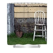 Dads High Chair Shower Curtain by Lauri Novak