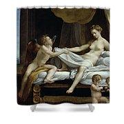 Danae Shower Curtain by Correggio