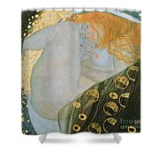 Danae Shower Curtain by Gustav Klimt