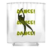 Dance Dance Dance Shower Curtain by Michelle Calkins
