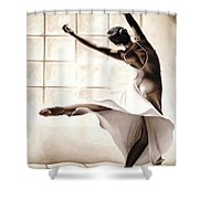 Dance Finesse Shower Curtain by Richard Young