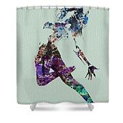 Dancer Watercolor Shower Curtain by Naxart Studio