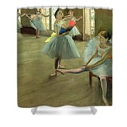 Dancers In The Classroom Shower Curtain by Edgar Degas