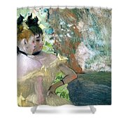 Dancers in the Wings  Shower Curtain by Edgar Degas
