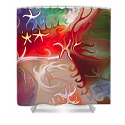 Dancing Stars Shower Curtain by Omaste Witkowski