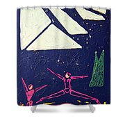 Dancing Under The Starry Skies Shower Curtain by J R Seymour