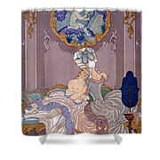Dangerous Liaisons Shower Curtain by Georges Barbier