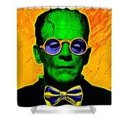 Dapper Monster Shower Curtain by Gary Grayson