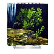 Dark Waters Shower Curtain by Patricia Griffin Brett