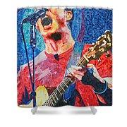 Dave Matthews Squared Shower Curtain by Joshua Morton