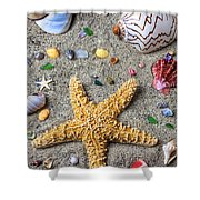 Day At The Beach Shower Curtain by Garry Gay