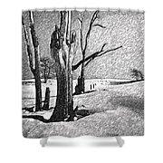 Dead Of Winter Shower Curtain by Steve Harrington