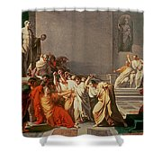 Death of Julius Caesar Shower Curtain by Vincenzo Camuccini