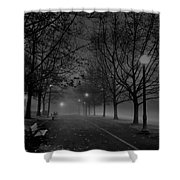 December Morning In Riverfront Park - Spokane Washington Shower Curtain by Daniel Hagerman