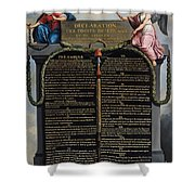 Declaration Of The Rights Of Man And Citizen Shower Curtain by French School