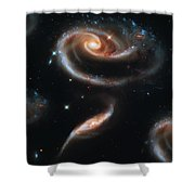 Deep Space Galaxy Shower Curtain by The  Vault - Jennifer Rondinelli Reilly