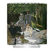 Dejeuner Sur Lherbe Shower Curtain by Claude Monet