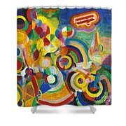 Delaunay: Hommage Bleriot Shower Curtain by Granger