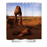 Delicate Sunrise Shower Curtain by Chad Dutson
